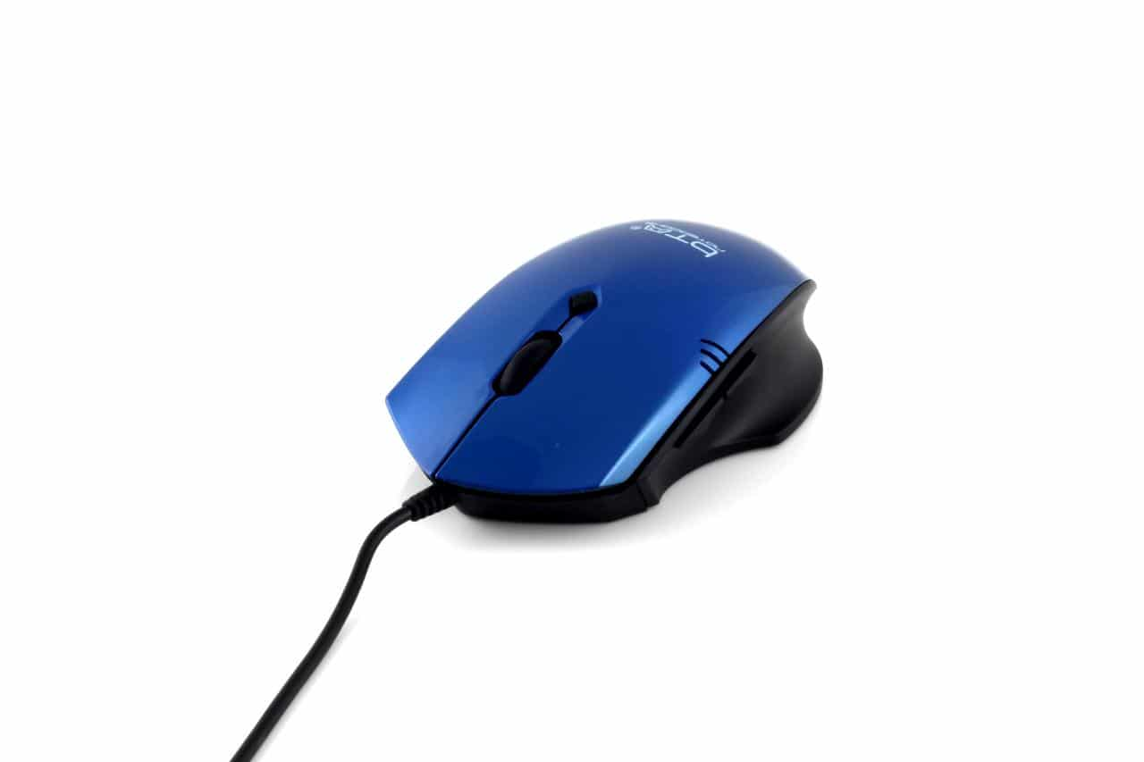 BTO USB Optische Gaming Muis (HM5123), zwart/blauw, retail