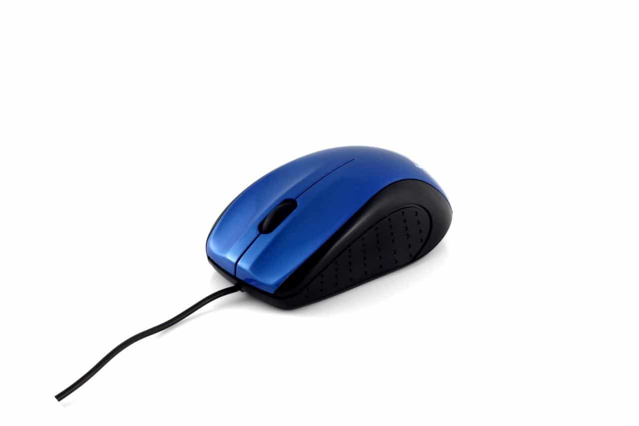 BTO USB Optische Notebook Muis (HM5022), zwart/blauw, bulk