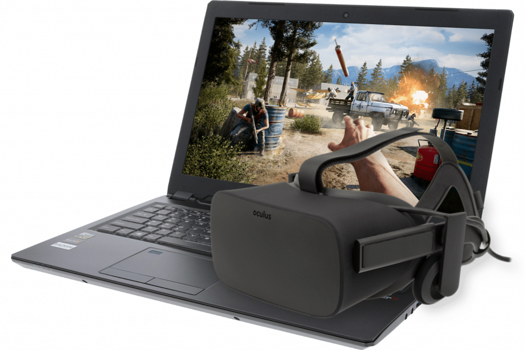 VR bril laptop
