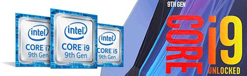 Laptops met 9e generatie Intel Core